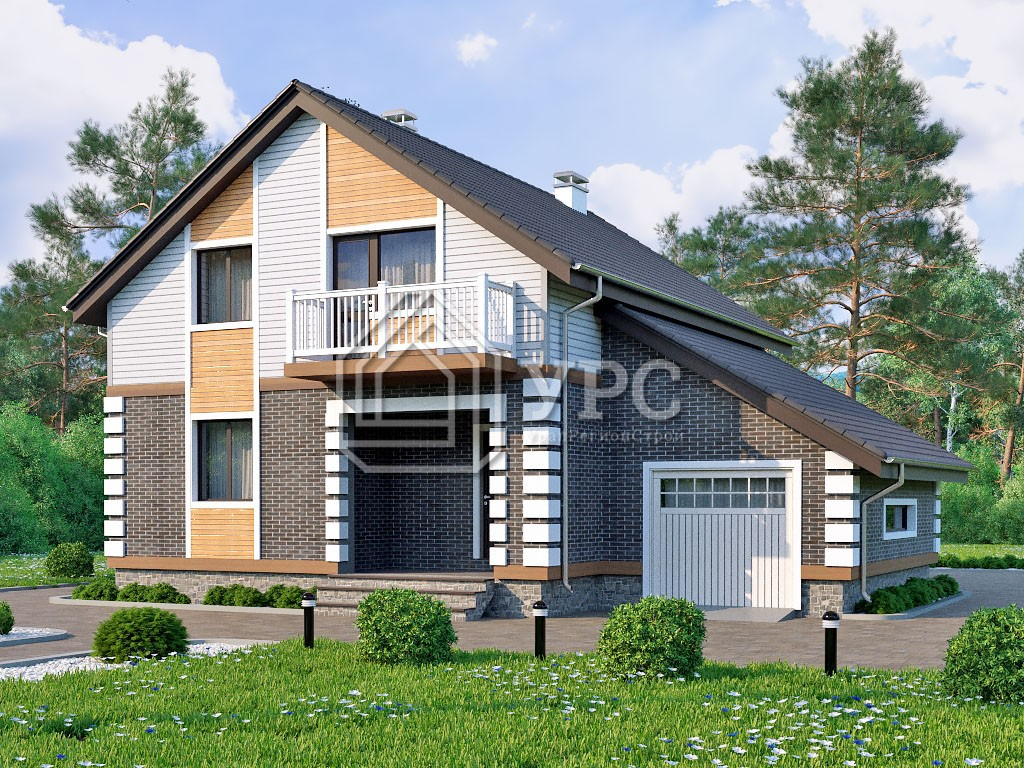 Дом из газоблока К-126 два этажа 160 м2