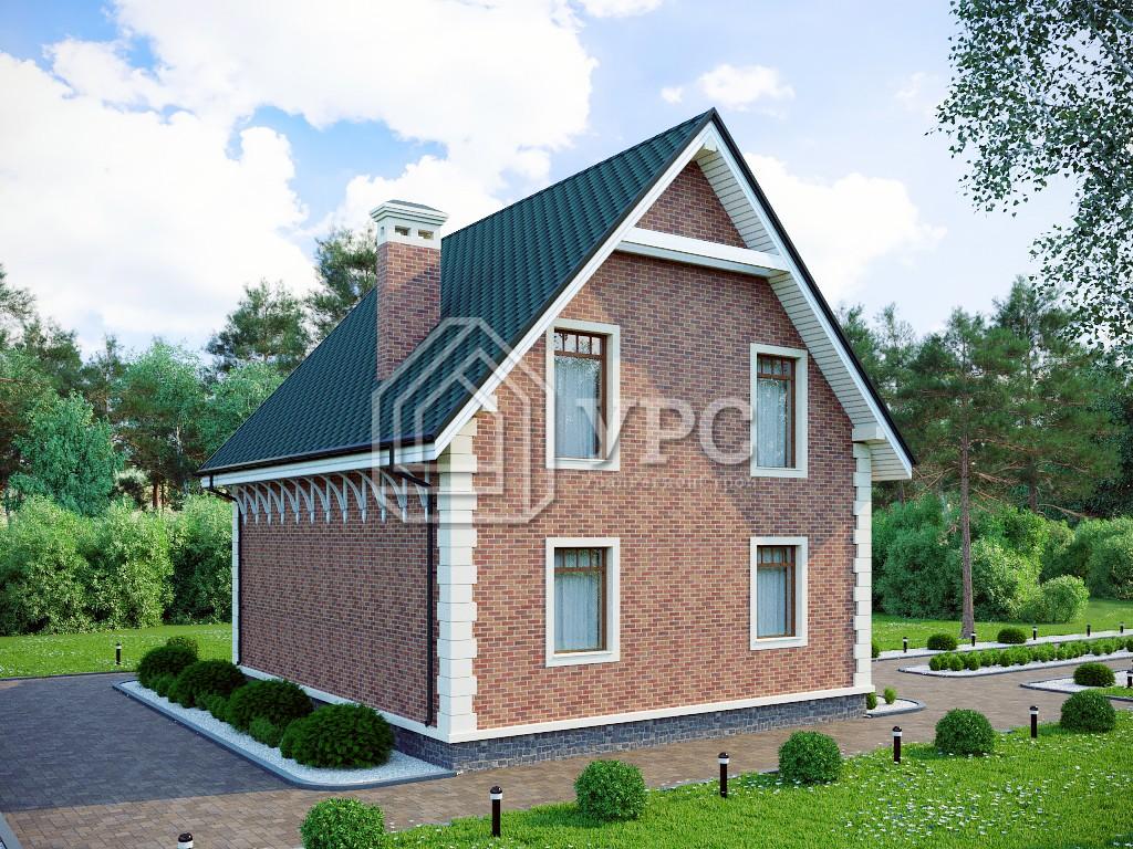 Дом из кирпича К-223 два этажа 115 м2