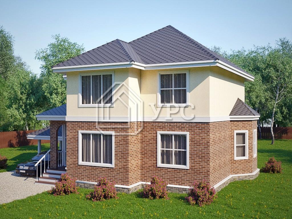 Каркасный дом И-009 два этажа 153 м2