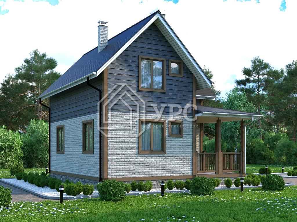 Каркасный дом И-069 два этажа 94 м2