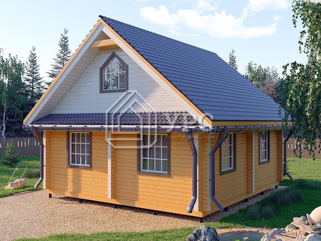 Комбинированный дом А-004 два этажа 99 м2