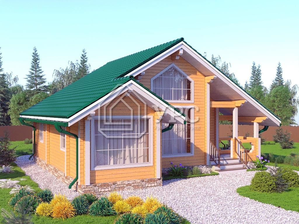 Дом из профилированного бруса ДС-052