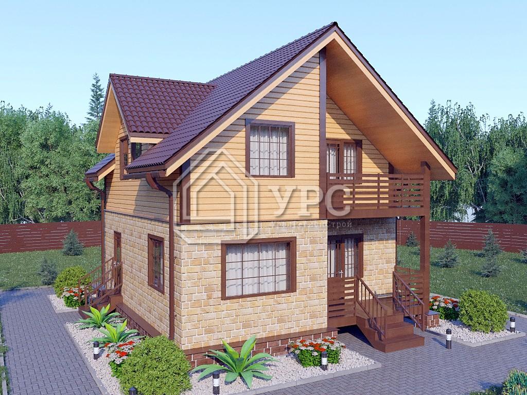 Комбинированный дом А-006