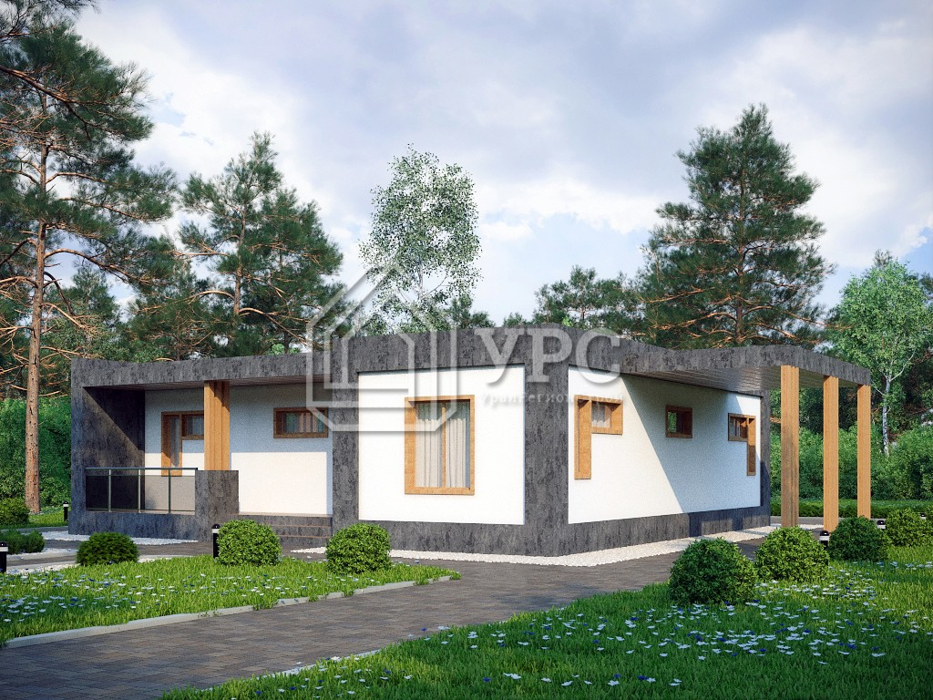 Дом из керамзитобетона К-190