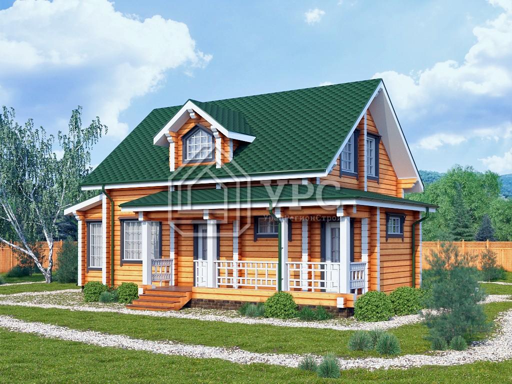Дом из профилированного бруса ДС-117