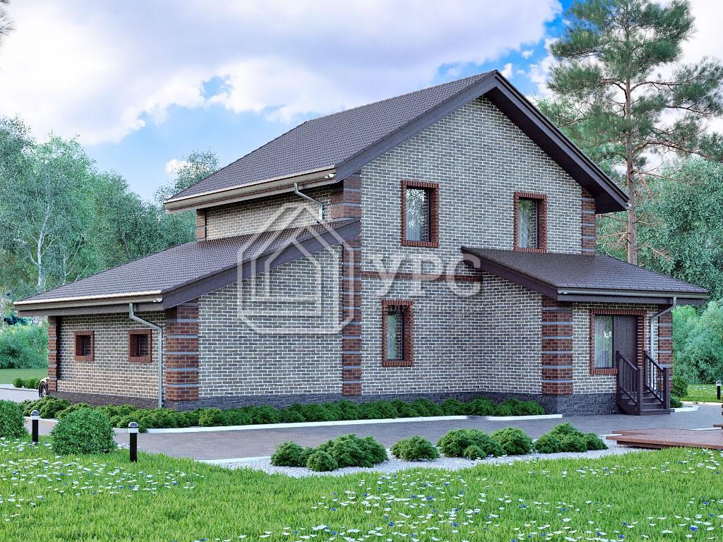 Дом из керамзитобетона К-002