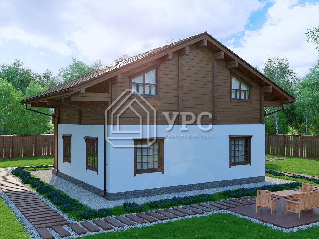 Дом из керамзитобетона А-016