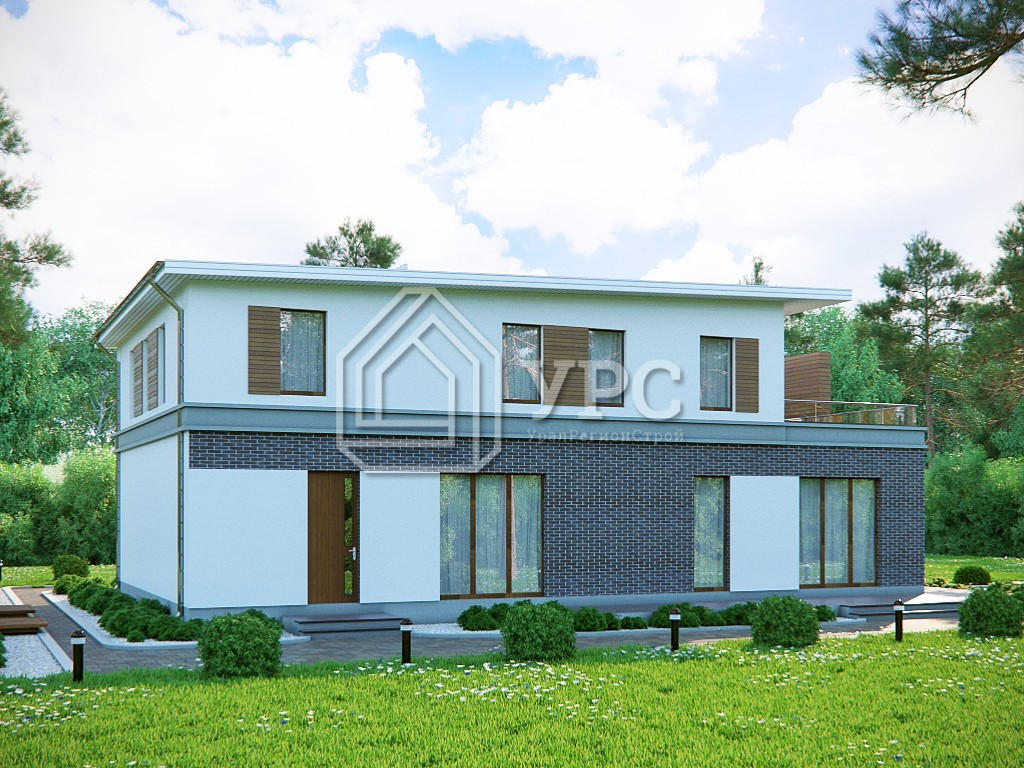 Дом из керамзитобетона К-181