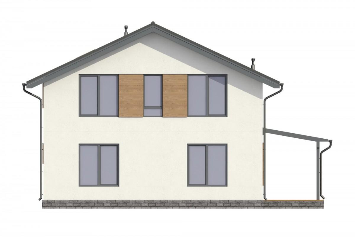 Дом из газоблока 12х13 два этажа 312м2