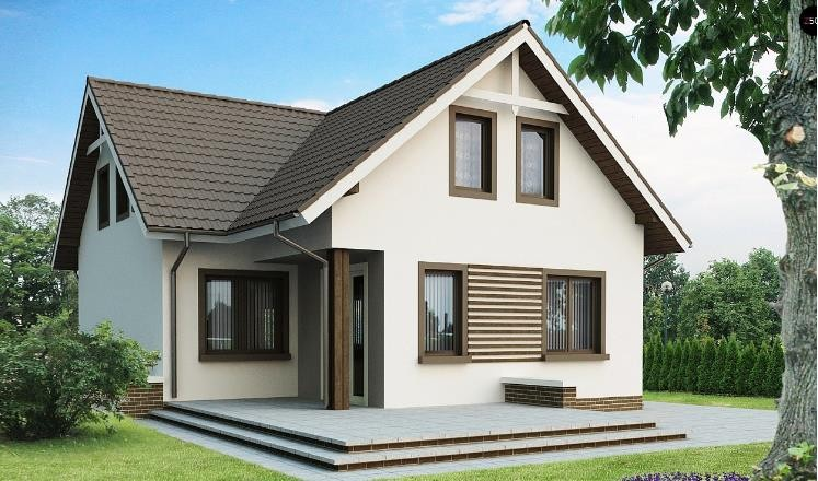 Дом из пеноблока 9х10 с мансардой 180м2