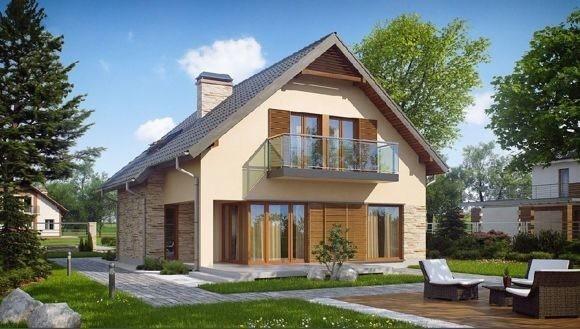 Дом из пеноблока 6х6 с мансардой 72 м2